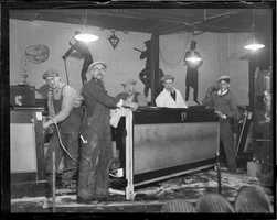 Dismantling a speakeasy in Boston after a raid