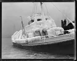 """Rum Chaser"" USS Dallas in Boston Harbor"