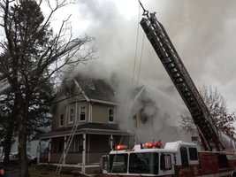 Fire officials said the residents inside the structure were able to safely escape and no injuries were reported.