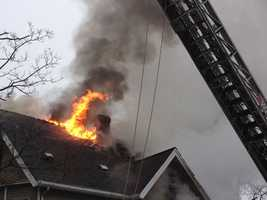 A two-family home in Wakefield was destroyed by flames Sunday morning.