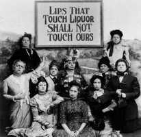 The Women's Christian Temperance Union, founded in 1874, and the Prohibition Party were the major forces behind the passage of the 18th amendment to the U.S. Constitution which was ratified on Jan 16, 1919.