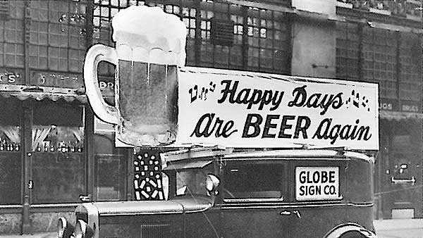 Prohibition ended on Dec. 5, 1933