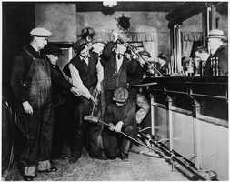 """Congress passed the """"Volstead Act"""" on October 28, 1919, to enforce the law."""
