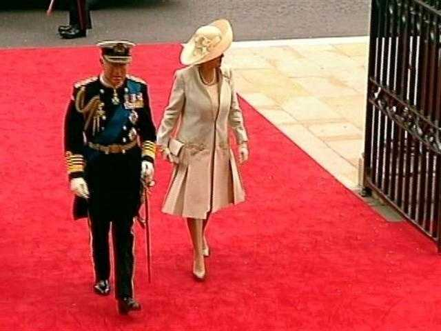 Kate Middleton's mother arriving at Westminster Abbey