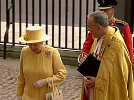 The queen wore a love-knot broach.