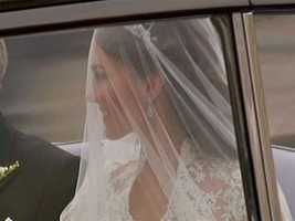 The world caught a long-awaited glimpse of Kate inside the car.