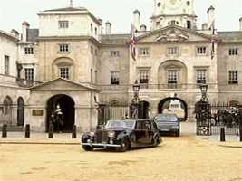 The royal coaches and cars were put to good use delivering the wedding party.