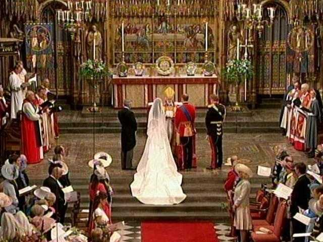 The abbey has seen many weddings, coronations and funerals.