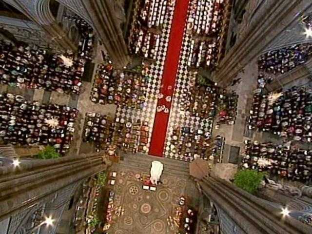 A view of the ceremony from above.