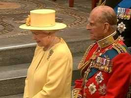 The queen almost smiled as Catherine curtsied to her after the ceremony.