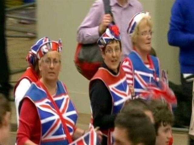 Britons were out showing their joy and pride.