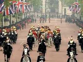 All the pomp and circumstance of the British monarchy was on display.