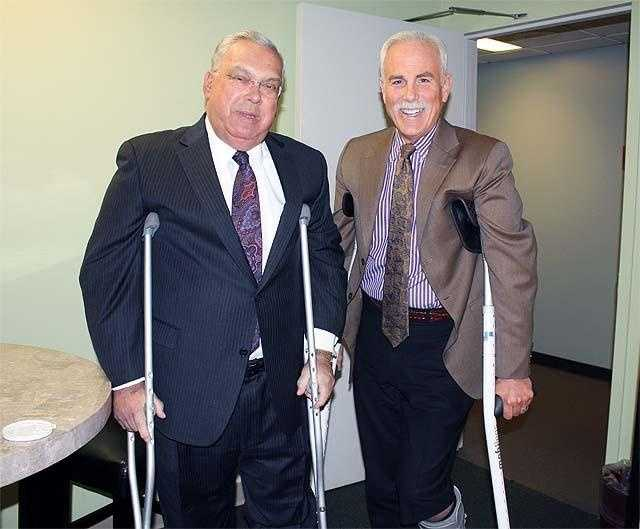 Randy Price has been a staple on the Boston airwaves for decades, but how well do you know the EyeOpener anchor, who is seen here with former Boston Mayor Menino when they were both on crutches.