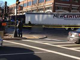 Police say a cyclist has been struck and killed by a tractor-trailer in Boston's Brighton neighborhood.
