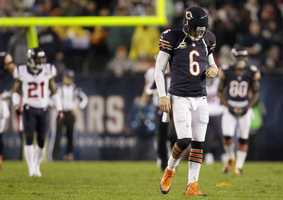 1) Chicago Bears - The bears look has remained virtually the same for decades - but it still feels unique. One of the only teams to feature striped socks, and a unique number font.