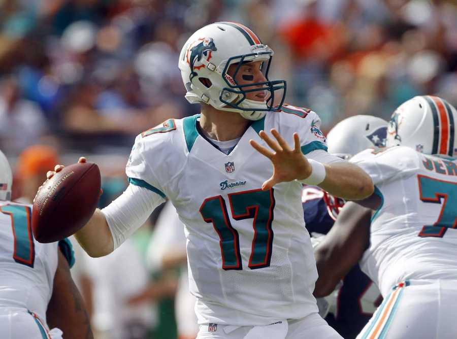 9) Miami Dolphins - Only negative from Uni Watch is this new two-tone collar featured on the white jersey.  Seems like something from the 1970s.