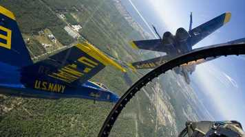 """Bianca says her most """"fun"""" assignment was getting to fly with the Blue Angels"""