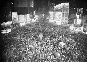 New Yorkers welcome 1946. World War II is over and a new era is beginning for the nation.
