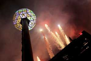In 2009, yet another Ball watched over Times Square. The biggest to date, the icosahedral geodesic sphere is 12 feet across and weighs 11,875 pounds.