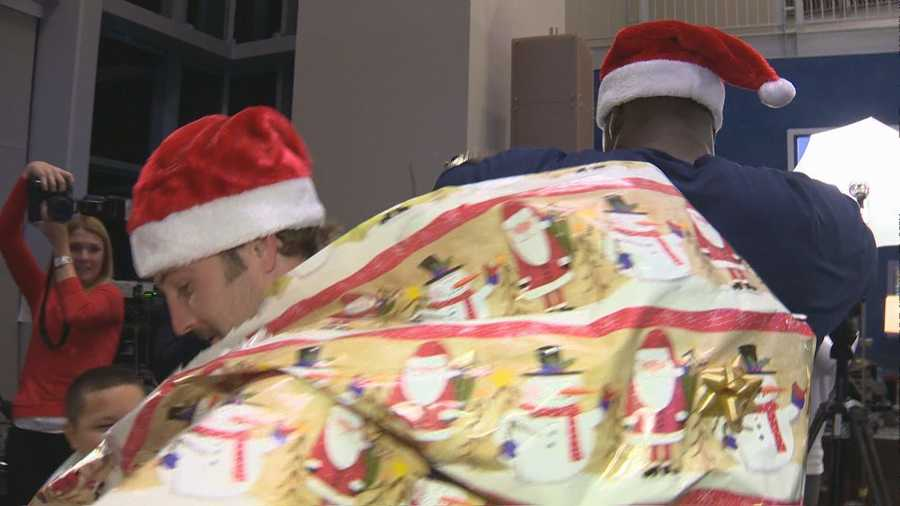 Imagine having Welker break out of wrapping paper under your tree on Christmas morning?!