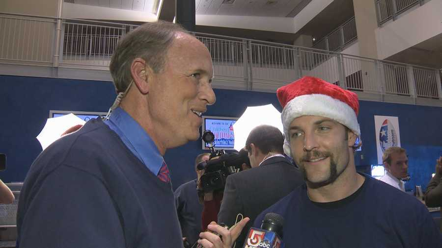 Mere moments after being 'wrapped-up' - he speaks with SportsCenter 5's Mike Dowling.
