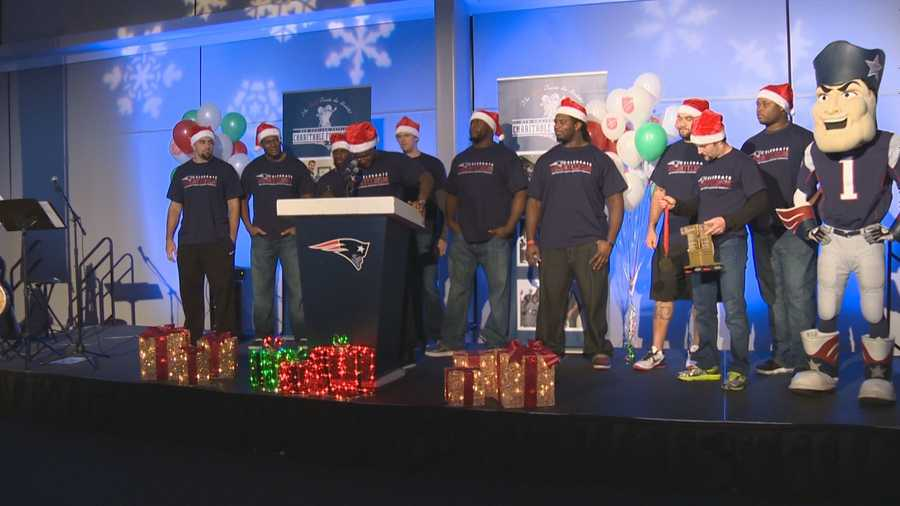 Close to a dozen Patriots players, Pat Patriot and the Patriots cheerleaders were at the event.