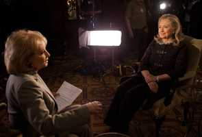 One of the most famous women in politics, Secretary of State Hillary Clinton.