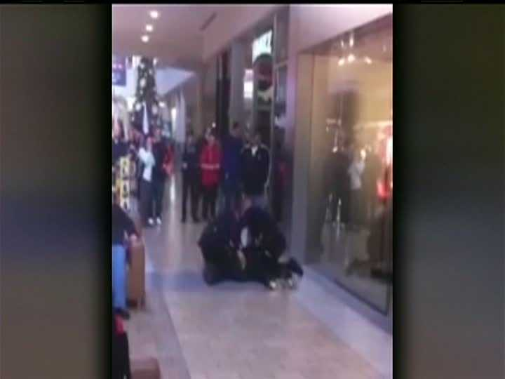 Police said the video does not tell the entire story -- and that the Apple store had issued a stay-away order against Li.