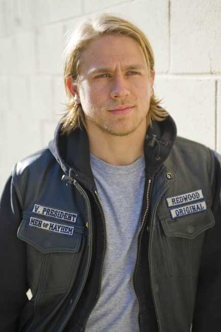 """24) Jackson - 288 (Charlie Hunnam playsJackson Nathaniel """"Jax"""" Teller - a fictional character and the protagonist on the FX television series Sons of Anarchy)"""