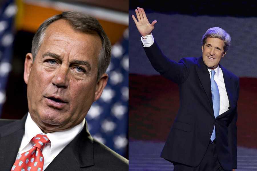 01) John - 3,606   (Pictured here are John Boehner - Speaker of the House of Representatives and John Kerry - Massachusetts U.S. Senator)