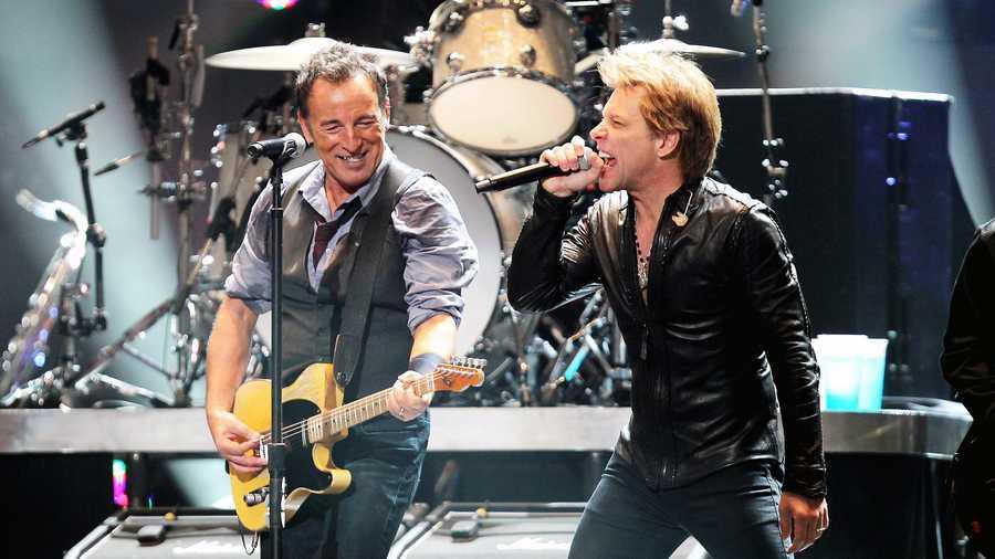 Springsteen Bon Jovi Open Concert For Sandy Relief