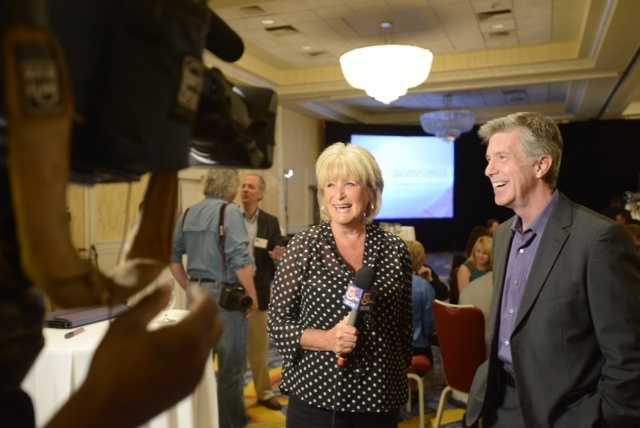 01) Susan - 1,743  (Pictured here is Channel 5 Midday anchor Susan Warnick with Dancing with the Stars host Tom Bergeron)