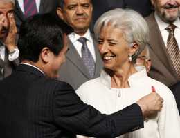 20) Christine - 586   (Pictured is International Monetary Fund Managing Director Christine Lagarde)