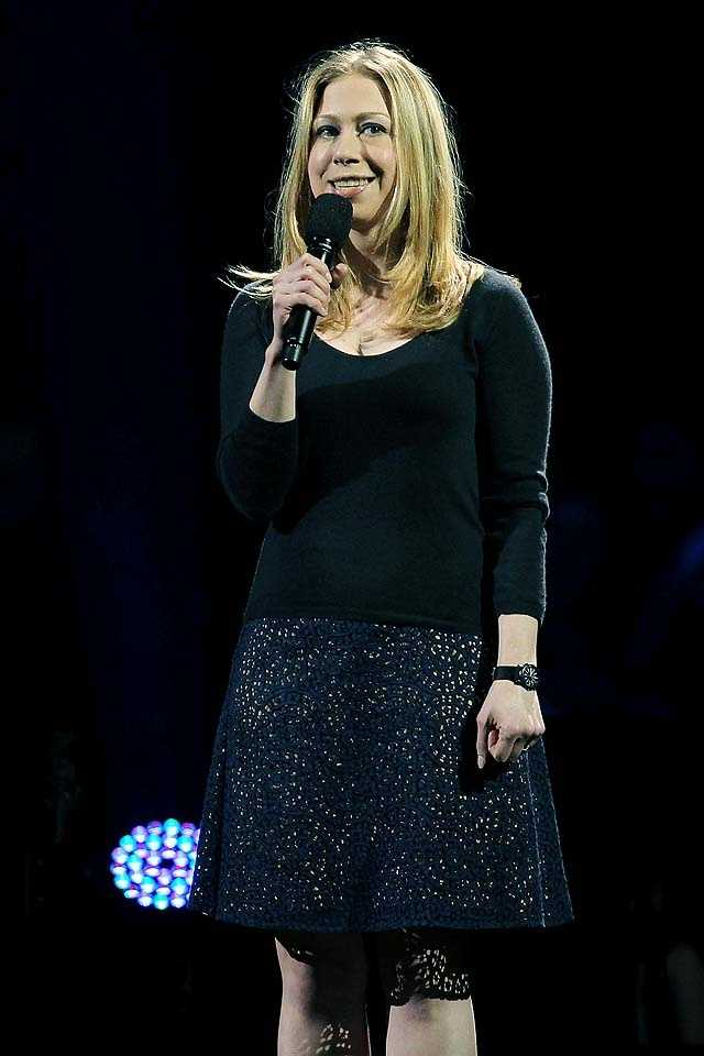 Chelsea Clinton was among the speakers at the concert.