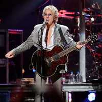 "Roger Daltrey of The Who. They weaved Sandy into their set, showing pictures of storm devastation on video screens during ""Pinball Wizard."" Pete Townshend made a quick revision to the lyrics of ""Baba O'Riley,"" changing ""teenage wasteland"" to ""Sandy wasteland."""