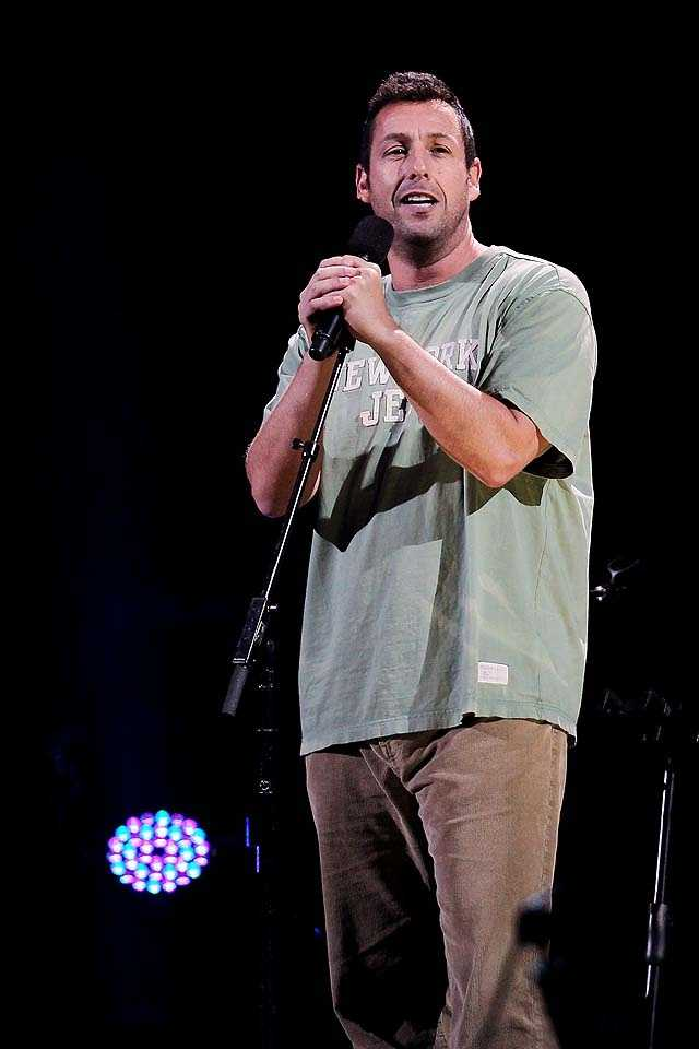 Adam Sandler has a special New York salute to Superstorm Sandy that songwriter Leonard Cohen never would have envisioned.