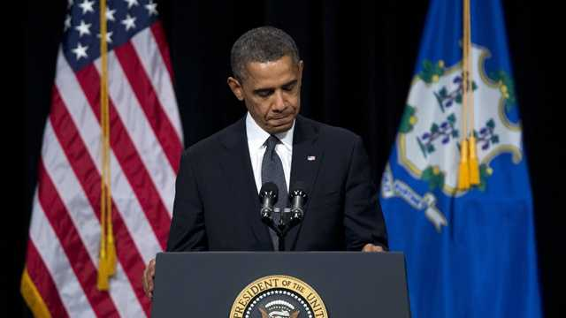 A mournful President Barack Obama said Sunday that the nation is failing to keep its children safe, pledging that change must come after an elementary-school massacre left 20 children dead.