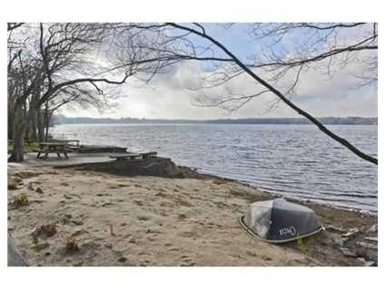 A private beach.