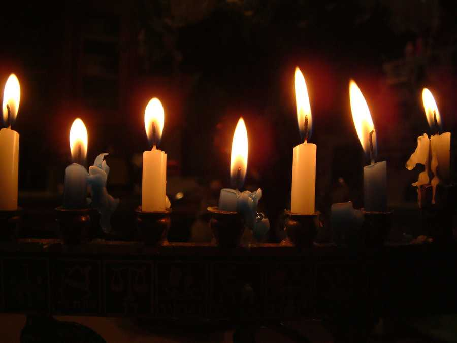 """Nothing says """"Happy Holidays"""" quite like the glow of Christmas/Menorah lights and candles."""