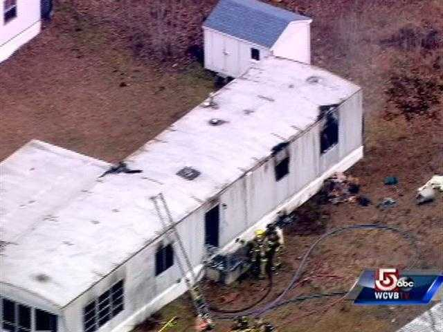 A child was killed in Thursday when a fire broke out in a home at Norwich Place , a mobile home park in Londonderry, N.H.