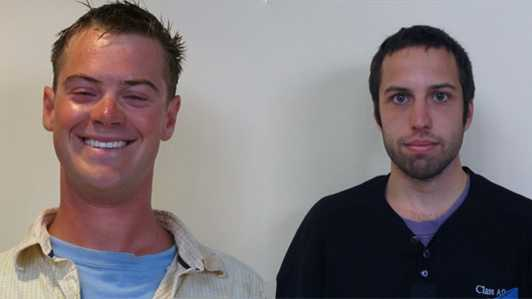 Prescott Wright (L) and Zachary Wells (R)