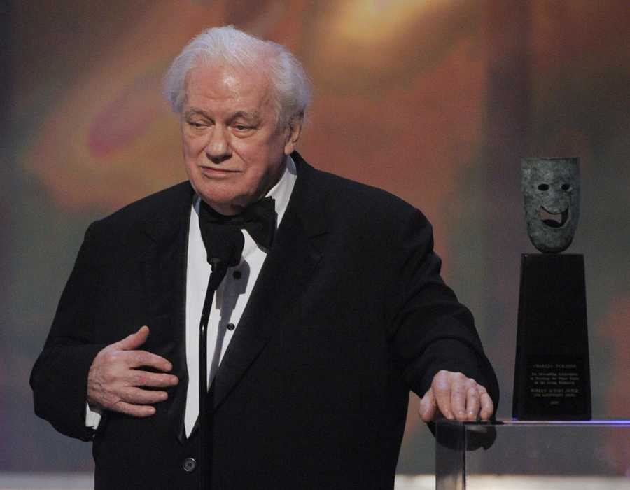 "Charles Durning was the two-time Oscar nominee who was dubbed the king of the character actors. He portrayed everyone from blustery public officials to put-upon everymen to Big Daddy in a Broadway revival of ""Cat on a Hot Tin Roof."" It won him a Tony award in 1990. (February 28, 1923 – December 24, 2012)"