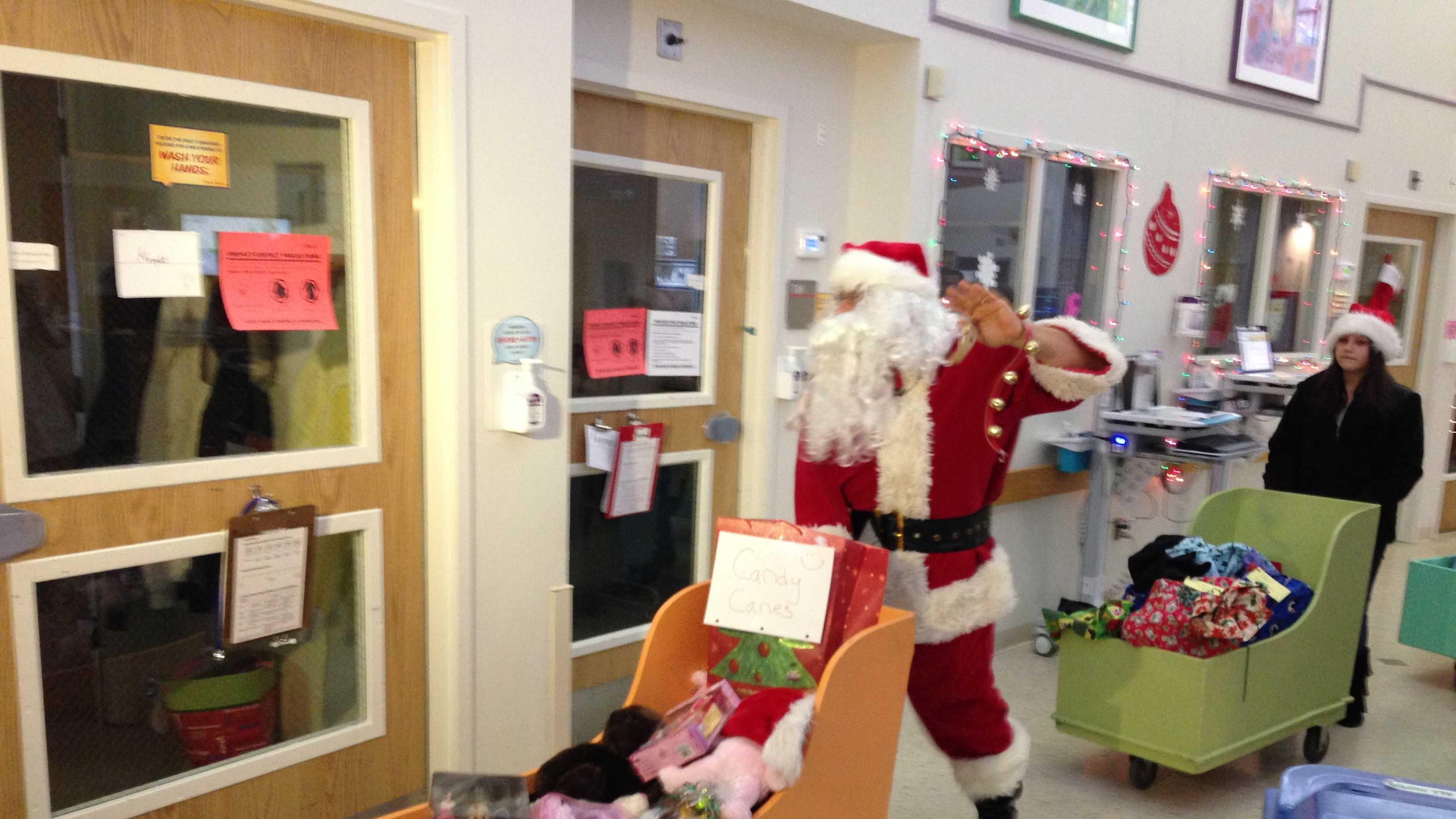 Santa at Boston Hospital