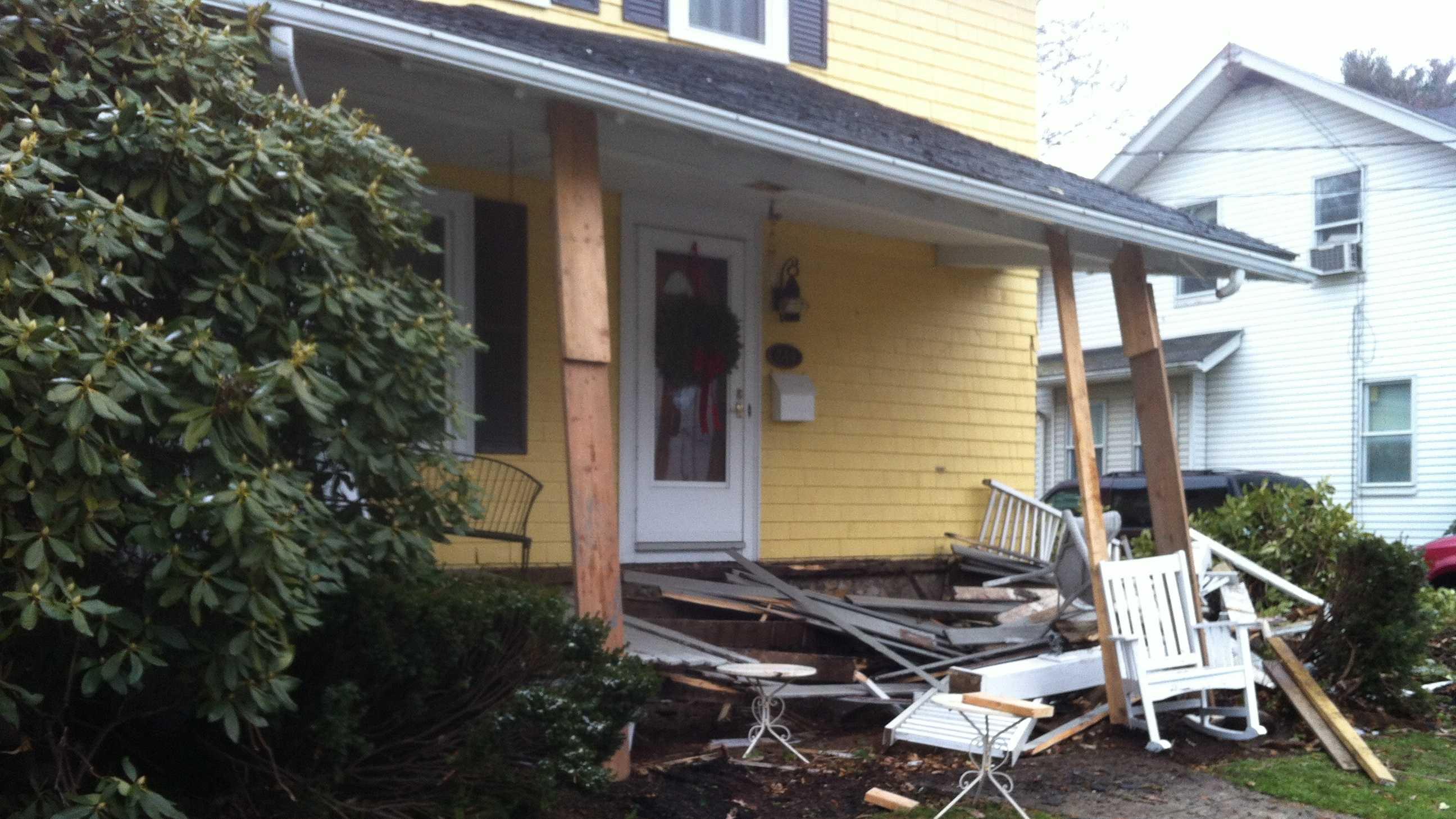 Car Crashes into Brockton home