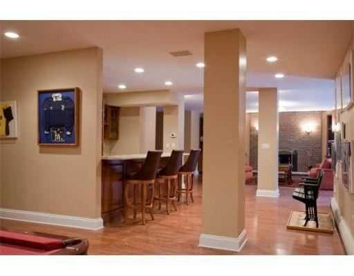 The home includes a wet bar