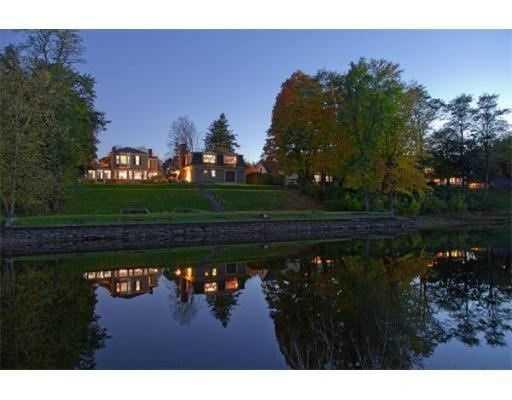 The home overlooks the Sudbury River