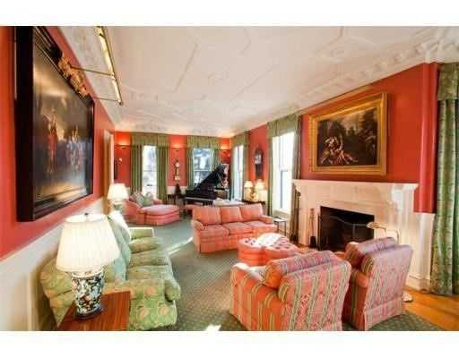 The home has 12 rooms and 2 fireplaces
