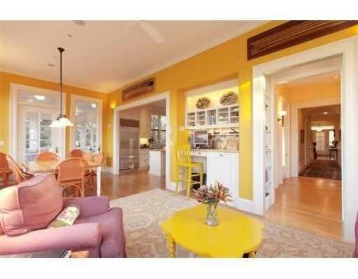There are hardwood floors throughout the home.