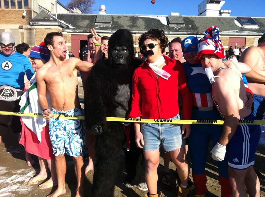 Close to 1,000 people took part in the annual polar plunge