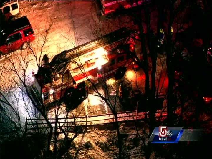 An aerial view of the rescue from Live Sky 5